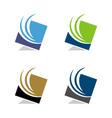 swoosh in square logo template design eps 10 vector image