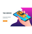 taxi online service mobile application vector image vector image