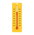 thermometer with degrees flat icon vector image