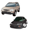 two cars vector image vector image