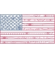 USA flag outline vector image vector image