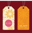 warm stars vertical round frame pattern tags set vector image vector image
