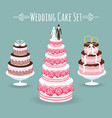 wedding cake set vector image