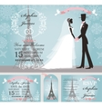 wedding invitationsbridegroomsnowparis winter vector image vector image