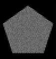 white dot filled pentagon icon vector image vector image