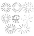 white effect of the rotating fan propeller vector image vector image