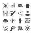 pandemic and outbreak plague icons set vector image