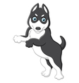 a funny cheerful dog standing vector image