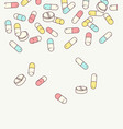 color drugs tamplate vector image