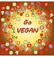 Go vegan template vector image