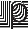 letter p design template vector image