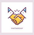 partnership icon handshake concept vector image