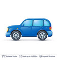 blue car isolated on white vector image