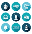 Landscaping Icons Set vector image