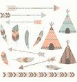 Tribal Tee pee Tents set vector image