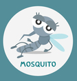a cartoon mosquito vector image vector image