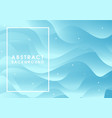 abstract blue flowing background vector image vector image