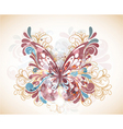 abstract butterfly with swirls vector image vector image