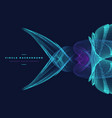 abstract particle fish shape vector image