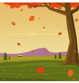 Autumn in the Mountain vector image vector image