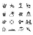 Beach Icons Black Set vector image