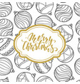 black and white pattern christmas balls vector image vector image