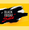 black friday abstract sale background with ink vector image vector image