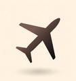black silhouette passenger plane icon vector image vector image