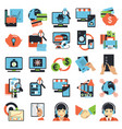 business center icons vector image