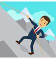 Businessman uphill climb vector image