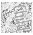 BWI know who you should contact Word Cloud Concept vector image vector image