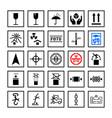 cargo handling marking symbols in frame set vector image