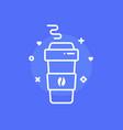 cartoon simple coffee paper cup vector image
