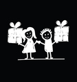 children with presents vector image