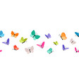 color flying butterflies seamless pattern vector image vector image