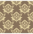 Contoured persian flowers vintage seamless pattern vector image