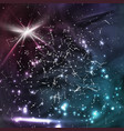 cosmic constellations modern background vector image vector image