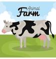 cow animal farm ico vector image vector image