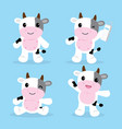 cow cute character cartoon design vector image vector image
