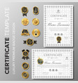 creative certificate design with badge vector image vector image