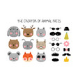 creator of animals in the scandinavian style vector image vector image