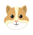 cute hamster mascot icon vector image vector image