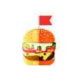drawing a humburger in flat cartoon vector image vector image