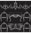 Fabulous Rich Baroque Rococo furniture set vector image vector image