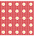 flower table cloth vector image