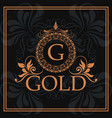 Gold g element identity flourishes template