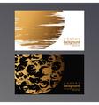 golden vcard vector image vector image