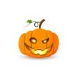 halloween pumpkin icon 3d autumn symbol flat vector image