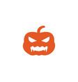 halloween pumpkins logo vector image