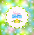 Happy Easter badge vector image vector image